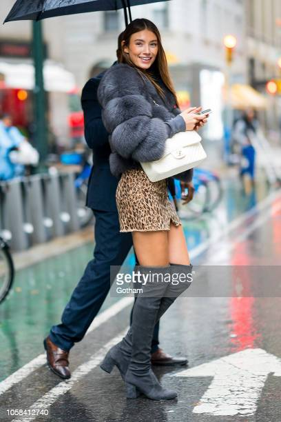 Lorena Rae attends fittings for the 2018 Victoria's Secret Fashion Show in Midtown on November 6 2018 in New York City