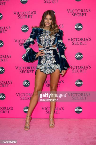 Lorena Rae attends the 2018 Victoria's Secret Fashion Show viewing party at Spring Studios on December 02 2018 in New York City