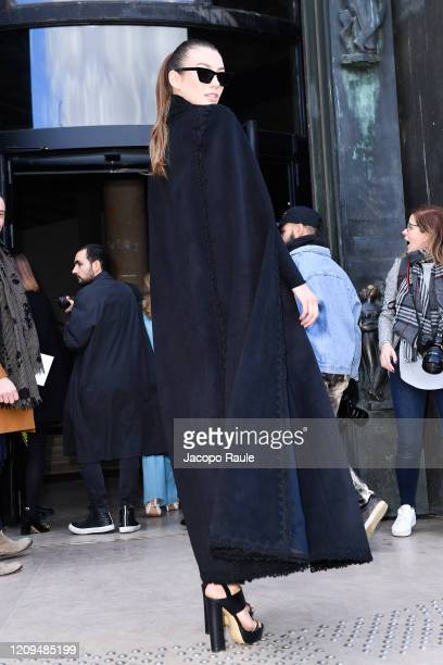 Lorena Rae attends the Elie Saab show as part of the Paris Fashion Week Womenswear Fall/Winter 2020/2021 on February 29 2020 in Paris France