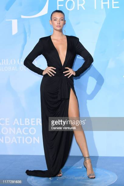 Lorena Rae attends the Gala for the Global Ocean hosted by HSH Prince Albert II of Monaco at Opera of MonteCarlo on September 26 2019 in MonteCarlo...