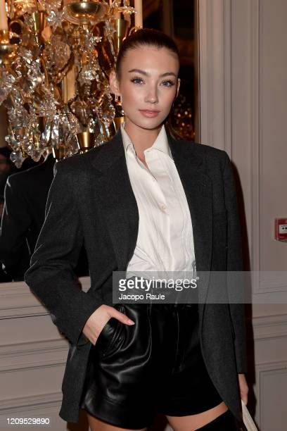 Lorena Rae attends the Monot show as part of the Paris Fashion Week Womenswear Fall/Winter 2020/2021 on February 29 2020 in Paris France
