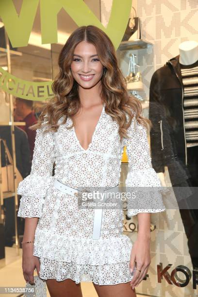 Lorena Rae attends the opening of the Michael Kors store on April 2 2019 in Munich Germany