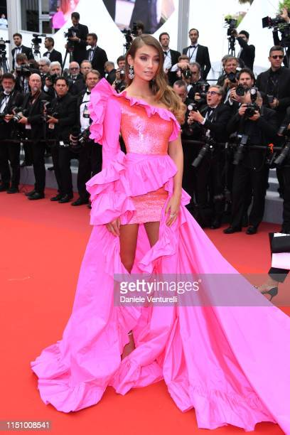 Lorena Rae attends the screening of Oh Mercy during the 72nd annual Cannes Film Festival on May 22 2019 in Cannes France