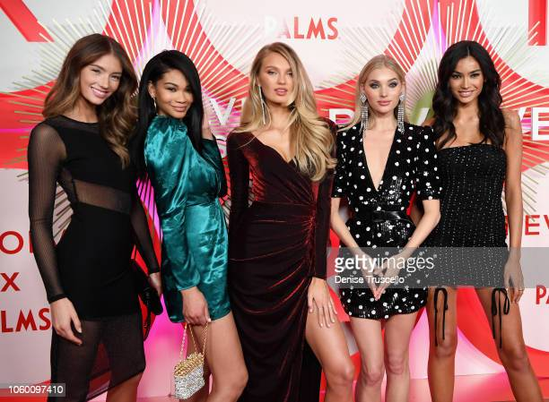 Lorena Rae, Chanel Iman, Romee Strijd, Elsa Hosk and Kelly Gale attend REVOLVE Presents: The 2nd Annual #REVOLVEawards at Palms Casino Resort on...