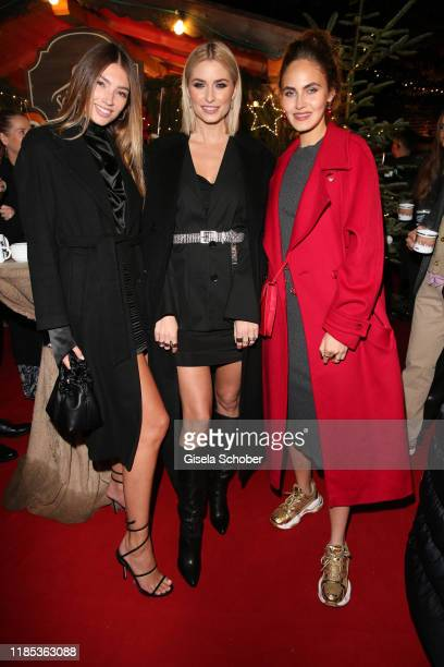 Lorena Rae Lena Gercke and Elena Carriere at the Lena Gercke x ABOUT YOU Christmas Dinner and Party at Hotel Stanglwirt on November 28 2019 in Going...