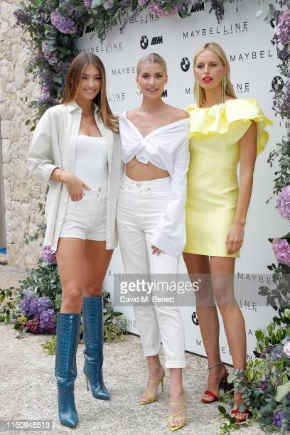 Lorena Rae, Lena Gercke and Karolína Kurková attend the Wellbeing Summer Lunch featuring a preview of the new Spring/Summer collection from LeGer by...