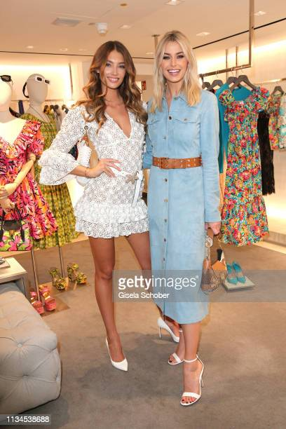 Lorena Rae Lena Gercke attend the opening of the Michael Kors store on April 2 2019 in Munich Germany