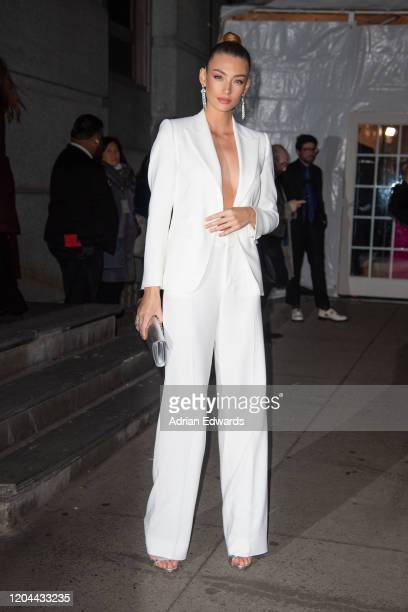 Lorena Rae outside the amFAR Gala held at Cipriani Wall St on February 5 2020 in New York City