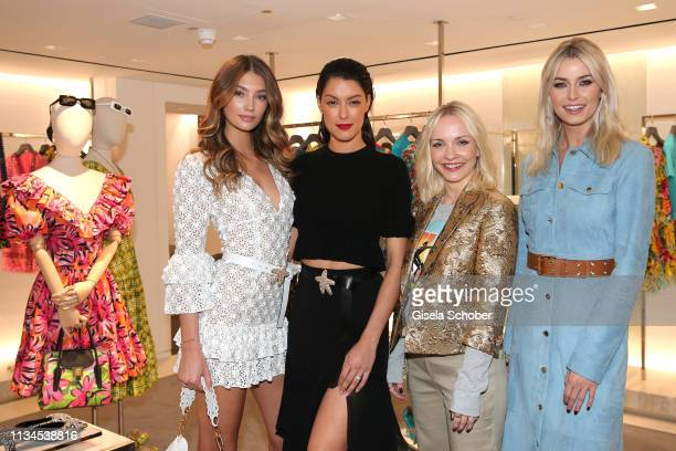 Lorena Rae Rebecca Mir Janin Ullmann Lena Gercke attend the opening of the Michael Kors store on April 2 2019 in Munich Germany