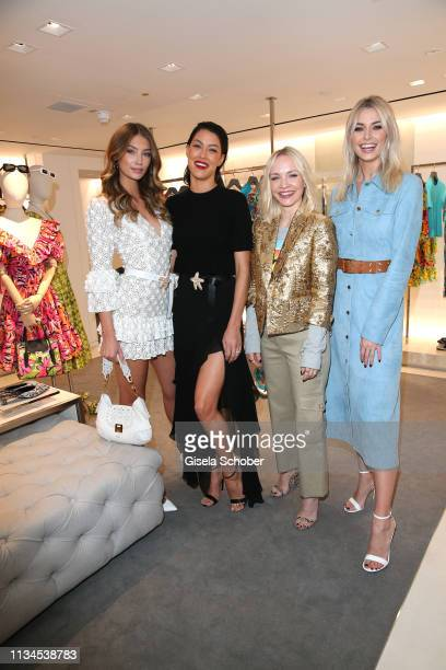 Lorena Rae Rebecca Mir Janin Ullmann Lena Gercke attends the opening of the Michael Kors store on April 2 2019 in Munich Germany