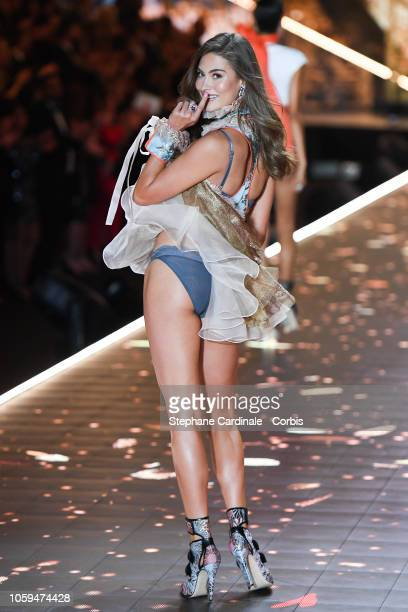 Lorena Rae walks the runway at the 2018 Victoria's Secret Fashion Show at Pier 94 on November 8 2018 in New York City