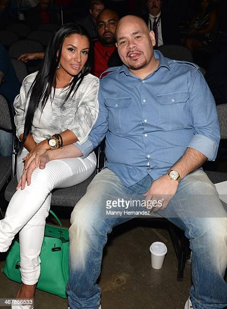 Lorena Rios Cartagena and Fat Joe at the 2014 Market America World Conference at American Airlines Arena on February 8 2014 in Miami Florida