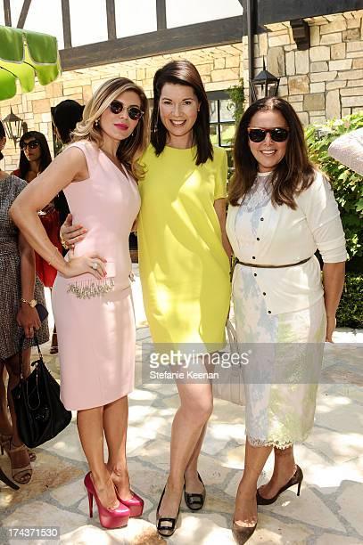 Lorena Sarbu Tanya Gill and Deborah Waknin attend Lorena Sarbu Resort 2014 Luncheon at on July 24 2013 in Beverly Hills California