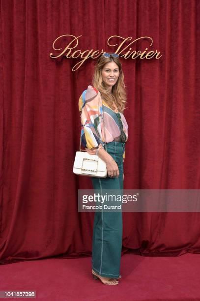 Lorena Vergani attends the Roger Vivier Presentation Spring/Summer 2019 during Paris Fashion Week on September 27 2018 in Paris France