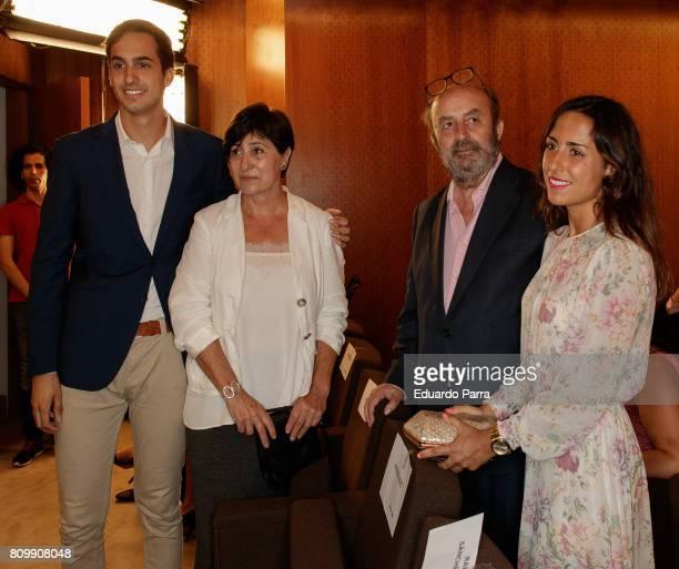 Lorendo Diaz Jr, Asun Garcia Campoy and Lorenzo Diaz attend the 'Periodismo Cientifico Concha Garcia Campoy' awards at Mapfre Foundation on July 6,...