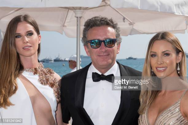 Lorene Renard Alejandro Agag and Hollie HarringtonBird attend a cocktail party hosted by Alejandro Agag ahead of the World Premiere of the Formula E...