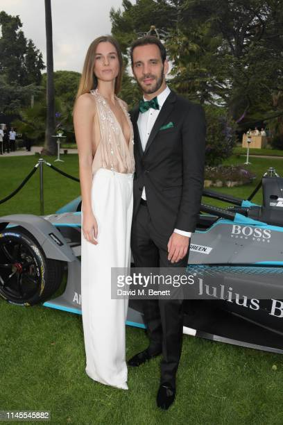 Lorene Renard and Formula E racing driver JeanEric Vergne attend a private dinner hosted by Alejandro Agag to celebrate the World Premiere of Formula...