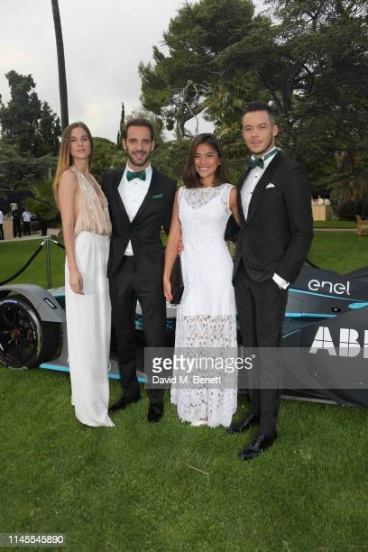 Lorene Renard Formula E racing driver JeanEric Vergne Takako Sato and Formula E racing driver Andre Lotterer attend a private dinner hosted by...