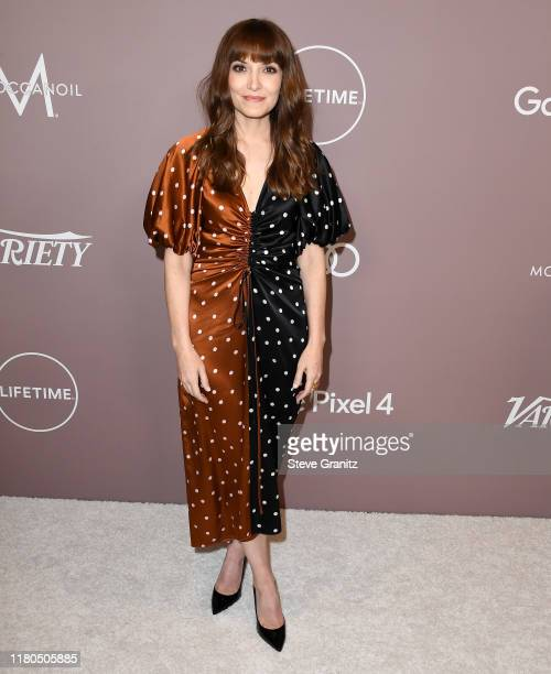 Lorene Scafaria arrives at the Variety's 2019 Power Of Women Los Angeles Presented By Lifetime at the Beverly Wilshire Four Seasons Hotel on October...