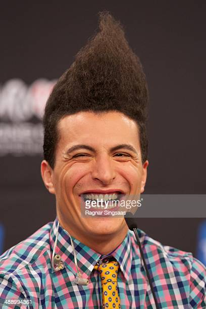 Lorent Idir of the group Twin Twin from France attends a press conference ahead of the Grand Final of the Eurovision Song Contest 2014 on May 9 2014...