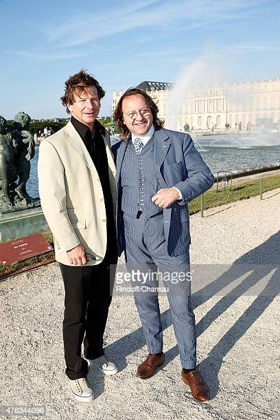 Lorenz Baumer and Bill Pallot attend the Grand Opening Anish Kapoor's Exhibition at Chateau de Versailles on June 7 2015 in Versailles France