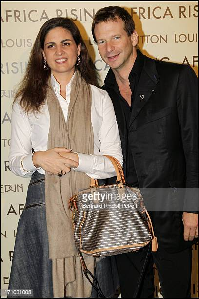 Lorenz Baumer and his wife at Every Journey Began In Africa Party For The Exhibition Africa Rising And The Discovery Of The Collaboration Between...