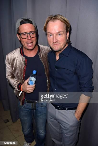 Lorenz Bueffel and Markus Krampe during the 'Goodbye Jens Party Stars Halten Zusammen' benefit at Grugahalle on February 23 2019 in Essen Germany