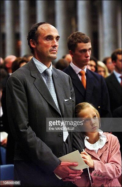 Lorenz of Belgium daughter Luisa Maria and Karl of Habsburg in Rome Italy on October 02nd 2004