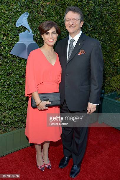 Lorenza Abaroa and President CEO of the Latin Academy of Recording Arts Sciences Gabriel Abaroa Jr attend the 16th Latin GRAMMY Awards at the MGM...