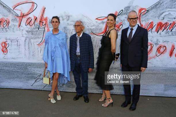 Lorenza Giovanelli Christo Yana Peel and HansUlrich Obrist attend the Serpentine Summper Party 2018 at The Serpentine Gallery on June 19 2018 in...