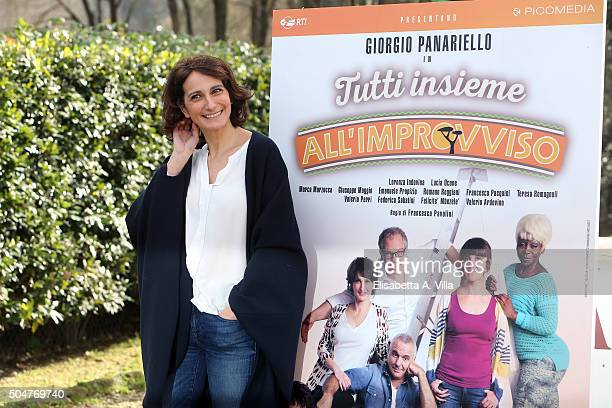 Lorenza Indovina attends a photocall for 'Tutti Insieme All'Improvviso' on January 13 2016 in Rome Italy