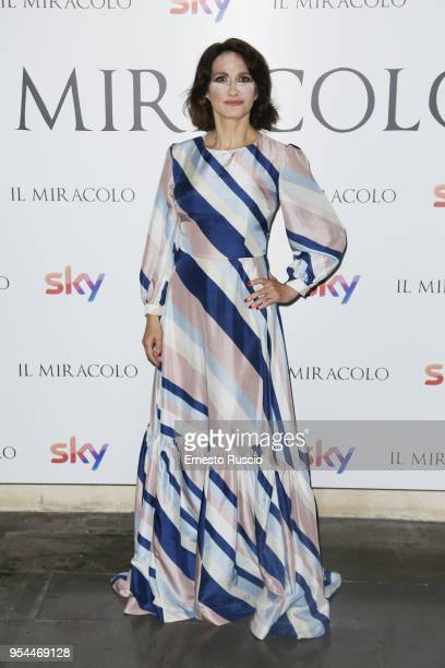 Lorenza Indovina attends 'Il Miracolo' premiere at The Space Moderno on May 3 2018 in Rome Italy