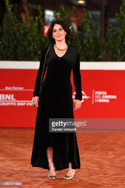 Lorenza Indovina attends the red carpet of the movie Cosa Sarà during the 15th Rome Film Festival on October 24 2020 in Rome Italy