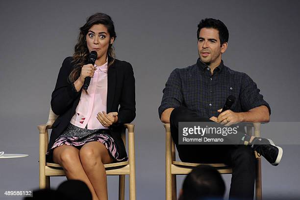 Lorenza Izzo and Eli Roth attend Apple Store Soho presents Knock Knock and Green Inferno at Apple Store Soho on September 22 2015 in New York City