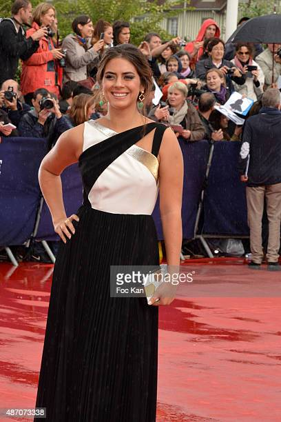 Lorenza Izzo attends the 'Knock Knock' Red Carpet 41st Deauville American Film Festival at the CID on September 5 2015 in Deauville France