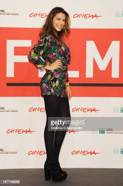 Lorenza Izzo attends the 'The Green Inferno' Photocall during the 8th Rome Film Festival at the Auditorium Parco Della Musica on November 12 2013 in...