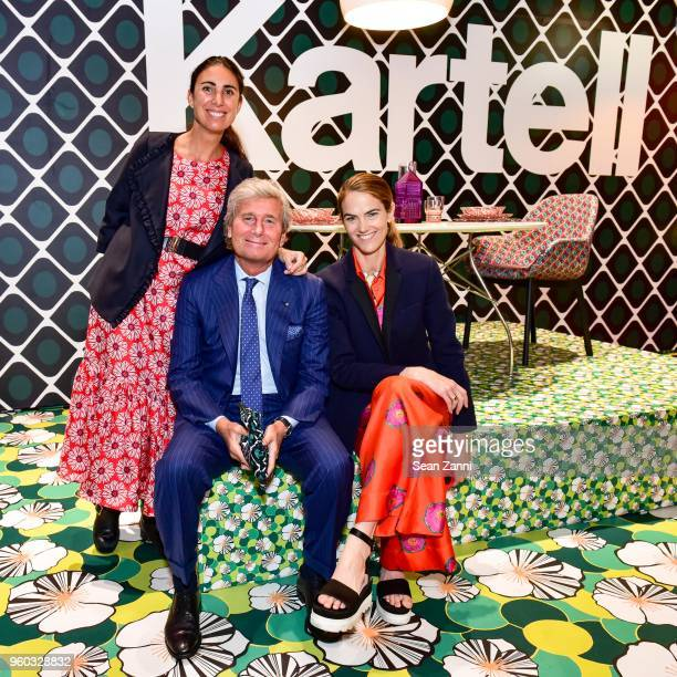 Lorenza Luti Claudio Luti and JJ Martin attend La DoubleJ x Kartell at Kartell Flagship Store New York on May 19 2018 in New York City