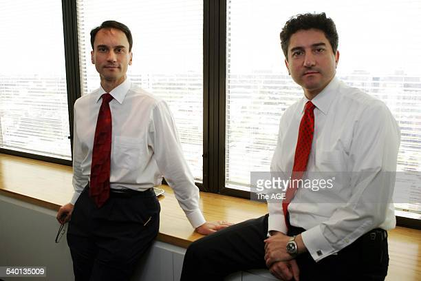 Lorenzo and Fausto Marasco, brothers who founded Premier Technologies, 5 February 2007. THE AGE Picture by ANDREW DE LA RUE