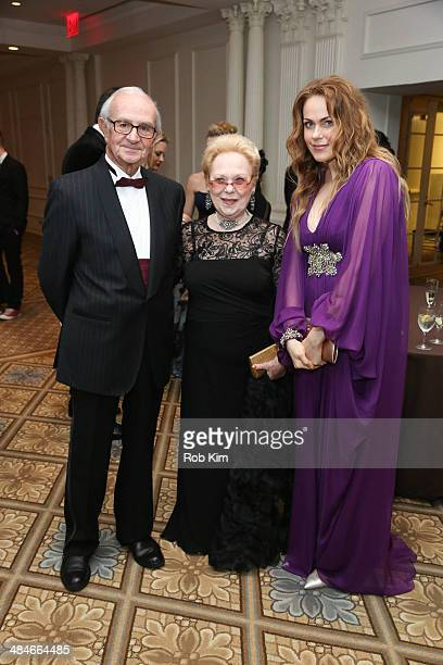 Lorenzo Anselmi Renata Scotto and Kristine Opolais attend the 9th Annual Opera News Awards at the Grand Ballroom at The Plaza Hotel on April 13 2014...
