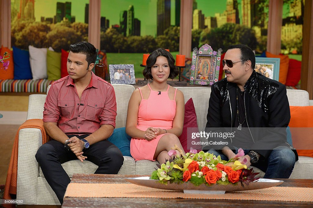 Lorenzo Antonio Aguilar Angela Aguilar And Pepe Aguilar Are Seen On