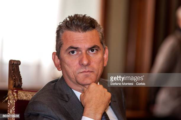 Lorenzo Bagnacani President Ama SpA during meet in Campidoglio for the 'Zero Waste' objective with the International Advisory Board for Rome for zero...