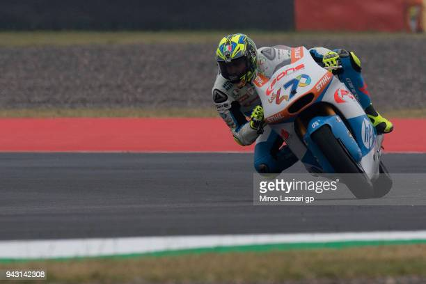 Lorenzo Balbassarri of Italy and Pons HP40 rounds the bend during the qualifying practice during the MotoGp of Argentina Qualifying on April 7 2018...