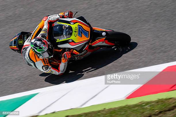 Lorenzo Baldassarri from Italy Forward Racing Moto2 Team during the Day2 Qualifing at the Mugello International Circuit on May 21 2016 in Scarperia...