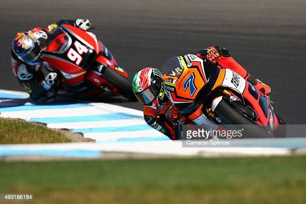 Lorenzo Baldassarri of Italy and Forward Racing rides during the Moto2 race during the 2015 MotoGP of Australia at Phillip Island Grand Prix Circuit...