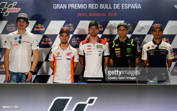 Lorenzo Baldassarri of Italy and Pons Hp40 Kalex Dani Pedrosa of Spain and Repsol Honda Team Cal Crutchlow of England and LCR Honda CastroJohann...