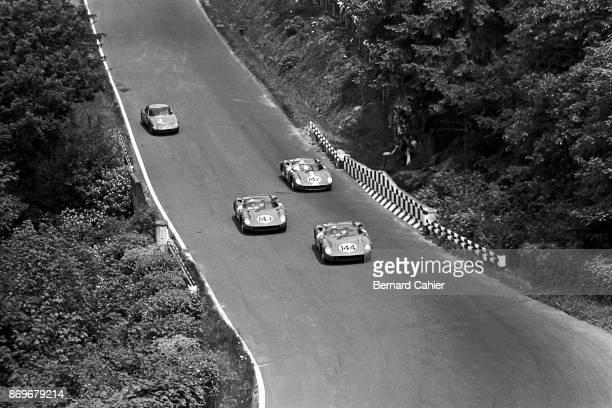 Lorenzo Bandini, Ferrari 275P, 1000 Km of Nürburgring, Nurburgring, 31 May 1964. Nino Vaccarella, Lorenzo Bandini and Innes Ireland, a battle of...