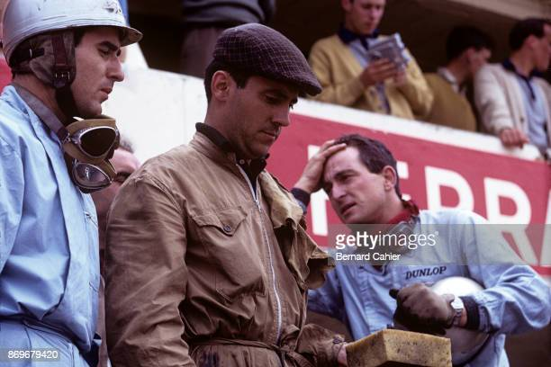 Lorenzo Bandini Ludovico Scarfiotti 24 Hours of Le Mans Le Mans 16 June 1963 Lorenzo Bandini and Ludovico Scarfiotti during a pit stop in the 1963 24...