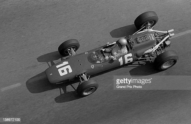 Lorenzo Bandini of Italy drives the Scuderia Ferrari Ferrari Dino 246 during the Monaco Grand Prix on 22nd May 1966 on the streets of the...