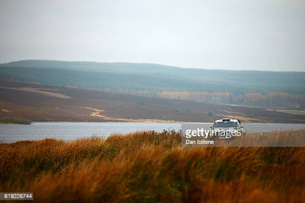 Lorenzo Bertelli of Italy and FWRT drives with codriver Simone Scattolin of Italy and FWRT during the Brenig stage of the FIA World Rally...