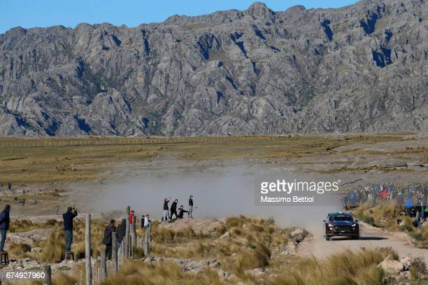 Lorenzo Bertelli of Italy and Simone Scattolin of Italy compete in their FWRT Ford Fiesta WRC during Day Two of the WRC Argentina on April 29 2017 in...